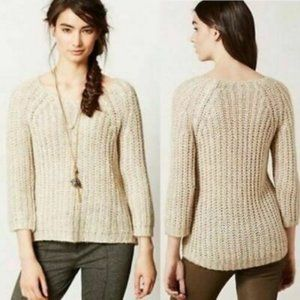 Anthropologie Knitted & Knotted Chunky Sweater - M